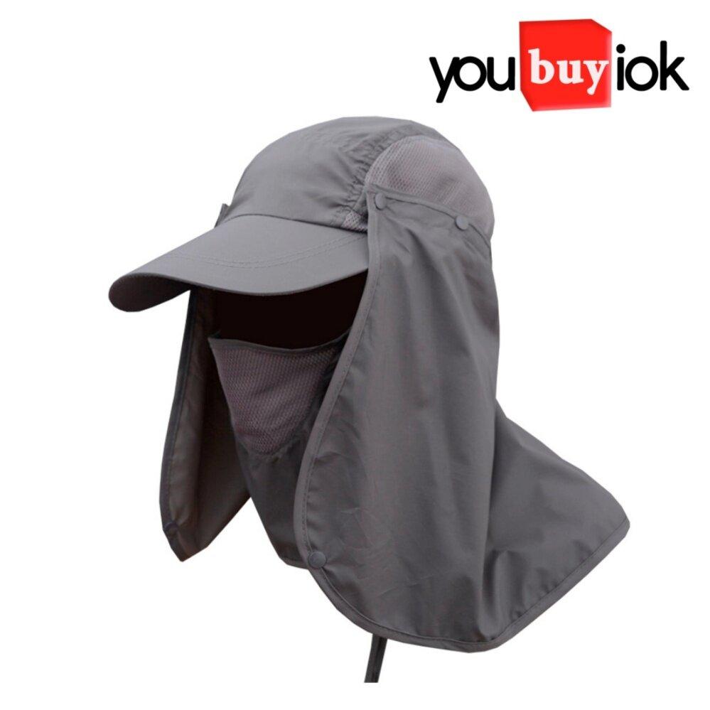 หมวก หมวกันแดด หมวกกันแดดป้องกัน หมวกเดินป่า ผ้าคลุมหน้าหน้ากากกันแดดและฝุ่น