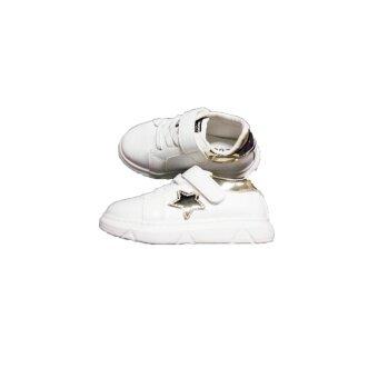 รองเท้าผ้าใบเด็ก สีขาว