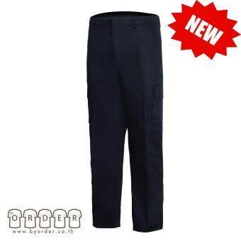 กางเกงคาร์โก้ กางเกงขายาวอย่างดี สีดำ กางเกงช่าง กางเกงทำงาน