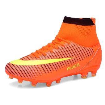 ฟุตบอลชายฟุตบอลอาชีพรองเท้ากีฬารองเท้าสูงรองเท้าตะปูซ้อมส้ม (image 1)