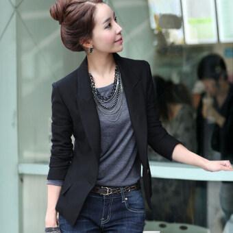 product 1507101129 34343494 e3a90148599a69255952886e290e95af product ร้านขาย เกาหลีหญิงฤดูใบไม้ผลิใหม่สบายๆเดียวที่ให้บริการเวสต์  สีดำ