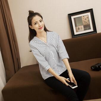 product 1507127020 92815594 788e50276ac94d5ba2e1242df0367126 product ขายดีสุด เกาหลีฤดูใบไม้ผลิใหม่ลายแขนเสื้อ  สีขาว