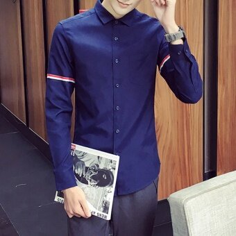 เกาหลีฤดูใบไม้ร่วงใหม่คนรักเสื้อ (สีน้ำเงินเข้ม)
