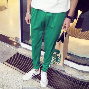 ผ้าลื่นผู้ชายกางเกงกีฬา (สีเขียว)