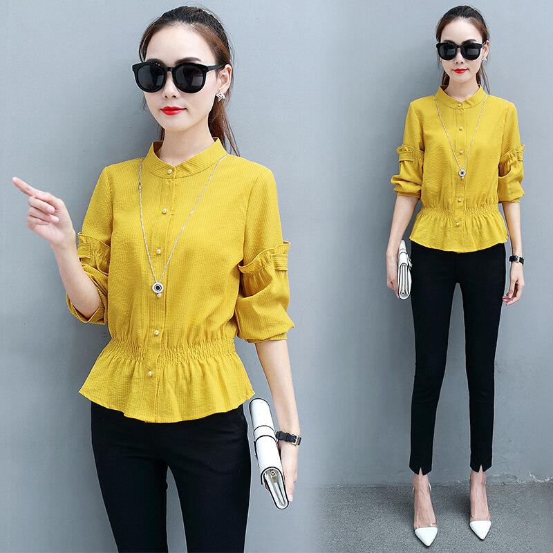 เสื้อเกาหลีหญิงเสื้อป่าฤดูใบไม้ร่วง (สีเหลือง)