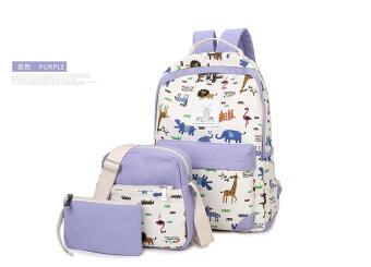 ผ้าใบพฤษภาคมเกาหลีโรงเรียนมัธยมกระเป๋าถือกระเป๋าสะพายไหล่ (สีม่วง)