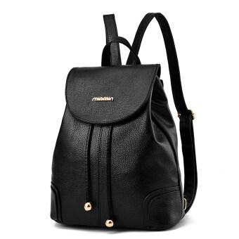 เกาหลีหญิงใหม่กระเป๋าเป้สะพายหลังกระเป๋าสะพายไหล่ (เครื่องหมายเทปสีดำ)