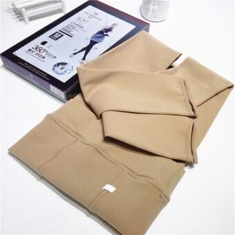 ฤดูหนาวที่อบอุ่นในฤดูใบไม้ผลิและฤดูใบไม้ร่วงสวมใส่ด้านนอกส่วนบางกางเกงโยคะ (สีดำ)