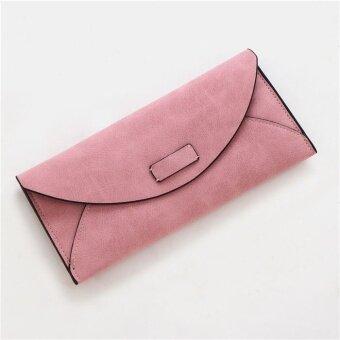 ย้อนยุคหญิงเคลือบบางซองกระเป๋าใหม่นางสาวกระเป๋าสตางค์ (สีชมพู)