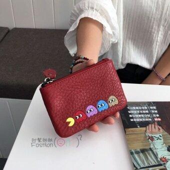ย้อนยุคหนังใหม่นางสาวซิปกระเป๋าเงินกระเป๋า (ไวน์แดง)