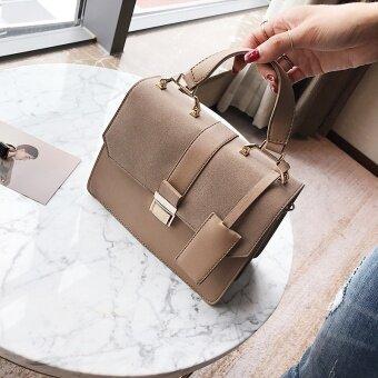 สี่เหลี่ยมเล็กๆเกาหลีหญิงใหม่ฤดูใบไม้ร่วงกระเป๋าถือกระเป๋าถุง (สีกากี)