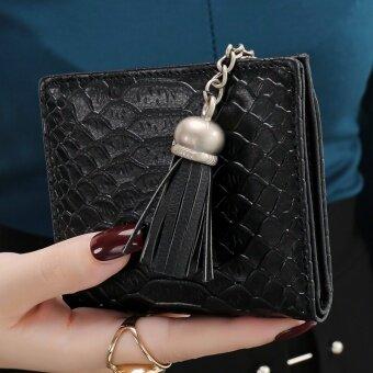เวอร์ชั่นเกาหลีจระเข้บางนักเรียนกระเป๋าสตางค์กระเป๋าสตางค์นางสาวกระเป๋าสตางค์ (สีดำลึกลับ)