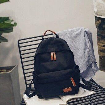 ในถุงผ้าใบเกาหลีมัธยมนักเรียนกระเป๋าเป้สะพายหลังกระเป๋าถือ (ส่วนเล็กๆสีดำ)
