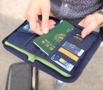 ท่องเที่ยวจัดเก็บกันน้ำแพคเกจบัตรแพคเกจเอกสาร (สีน้ำเงินเข้ม)