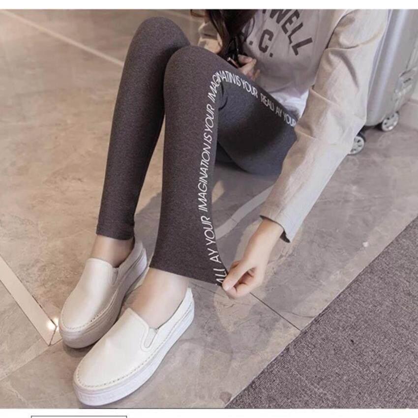 ขาย เลกกิ้งขาเรียวเกาหลี  เลกกิ้งกันหนาวกระชับขาเรียว-สีเทาเข้ม