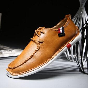 ฤดูใบไม้ร่วงใหม่ของผู้ชายรองเท้าลำลอง (สีน้ำตาล)
