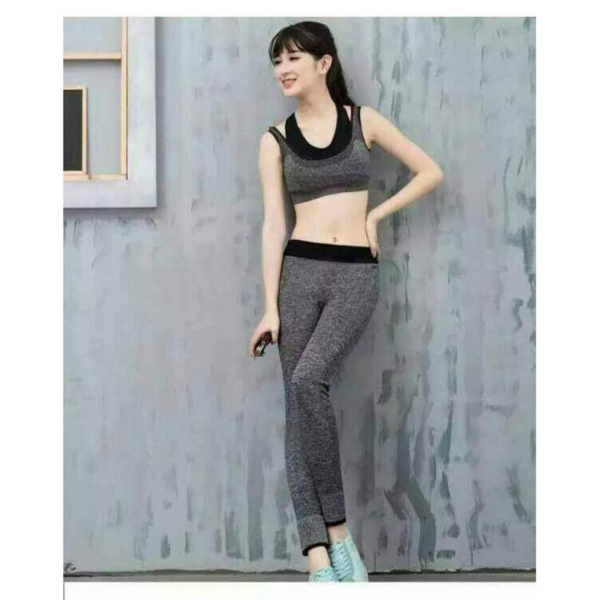 ชุดออกกำลังกาย เสื้อกล้ามสปอร์ตบรา + กางเกงขายาว