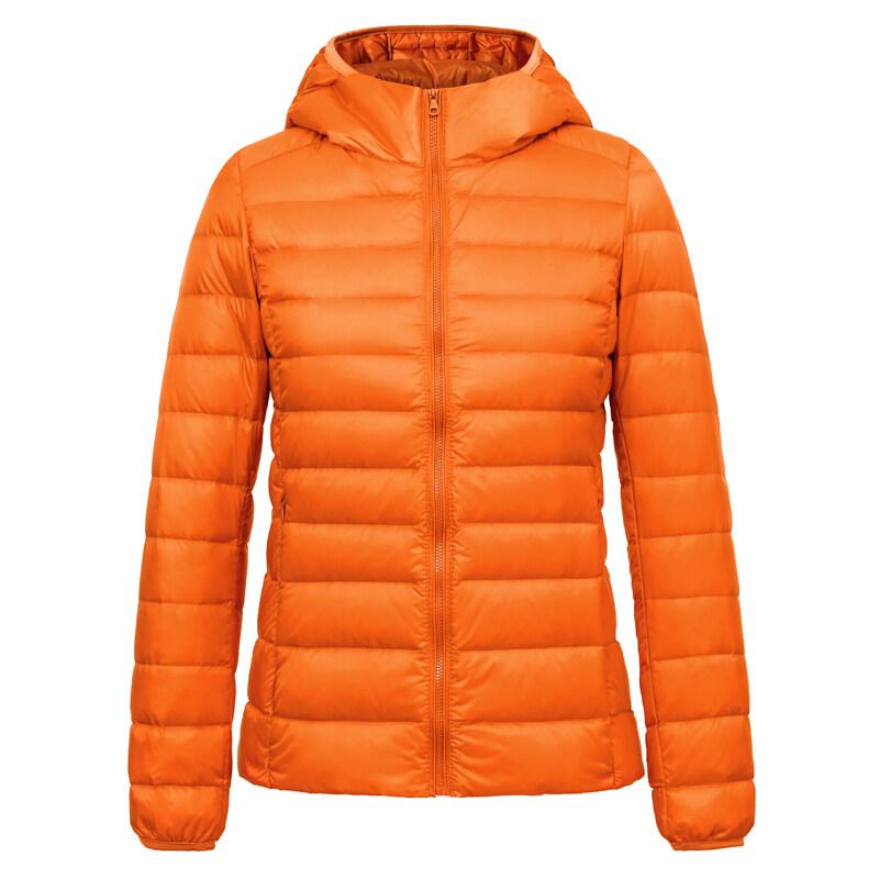 แฟชั่นฤดูหนาวใหม่ลูกอมสีลงเสื้อเป็ดสีขาวลง (สีส้ม)