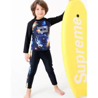 ชุดว่ายน้ำเด็กชายแขนยาว ขายาว (กาแลกซี่)