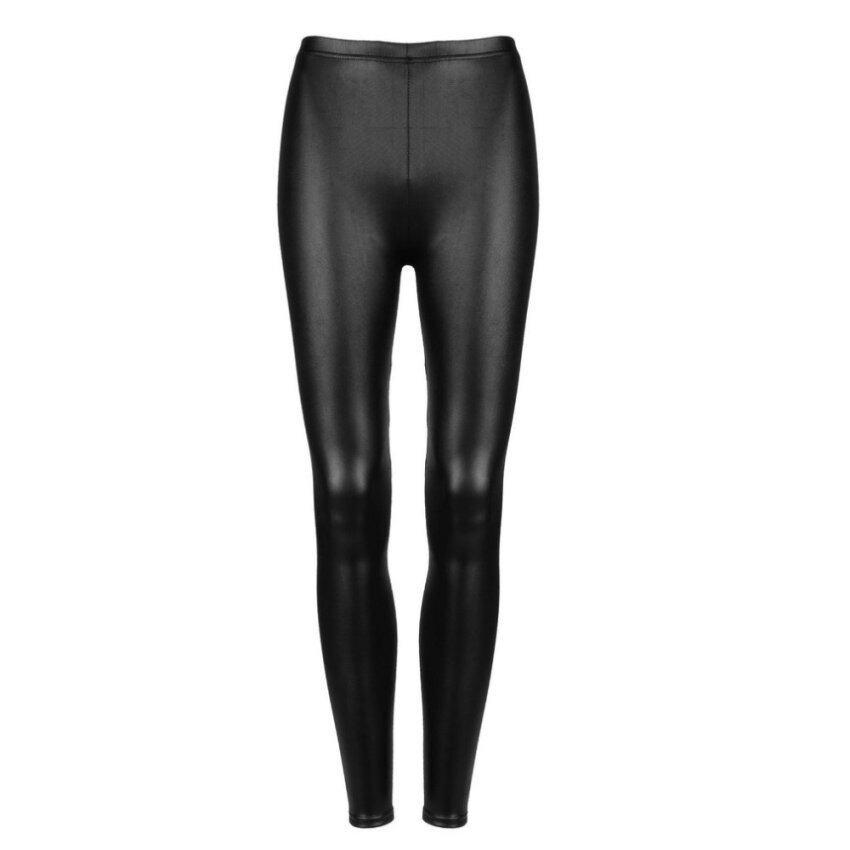 สาวเทียมสุดเซ็กซี่กางเกงสกินนี่กางเกงหนัง Pu ถุงน่องกางเกงดินสอ