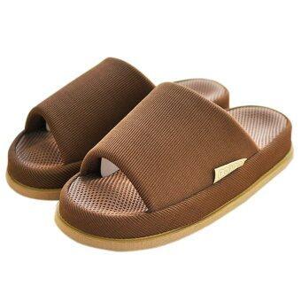 รองเท้าใส่ในบ้าน รุ่น รองเท้านวด (สีน้ำตาล)