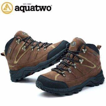 รองเท้าหนังแท้ Aquatwo กันน้ำอย่างดี สำหรับลุยป่า ปีนเขา Adventure รุ่น 943 (สีน้ำตาลเข้ม)