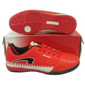 รองเท้ากีฬา รองเท้าฟุตซอลเด็ก Kronos KFWJ-5746 แดงขาว