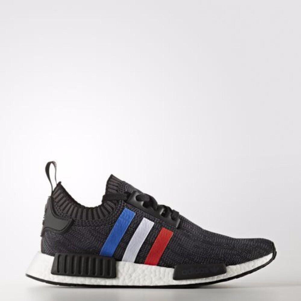 สอนใช้งาน  ฉะเชิงเทรา รองเท้าผู้หญิง Adidas NMD PK Primeknit หายาก รุ่นใหม่สีดำแถบสามสี