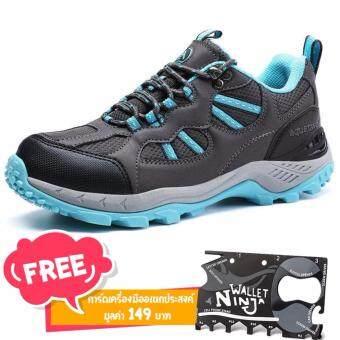 รองเท้าวิ่งเทรล สำหรับผู้หญิง Aquatwo รุ่น 304 กันน้ำอย่างดี ใส่เดินป่า ปีนเขาอย่างมั่นใจ (สีฟ้า) แถมฟรี card ninja มูลค่า 149 บาท