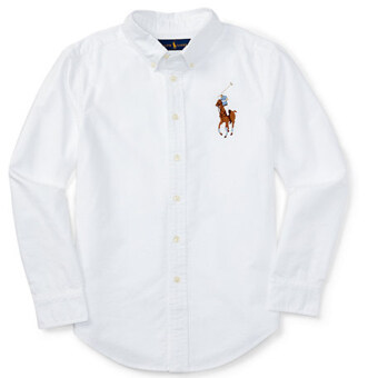 Harga RALPH LAUREN เสื้อ BIG PONY LONG SLEEVE OXFORD ( WHITE)