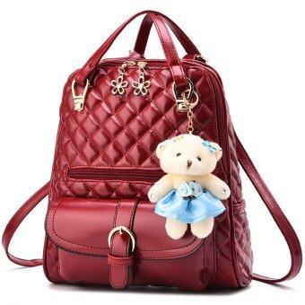 RockLife 3 in 1 Women Bag Top Handle Bag Women Backpack กระเป๋าสะพายไหล่ กระเป๋าเป้สะพายหลัง -Red