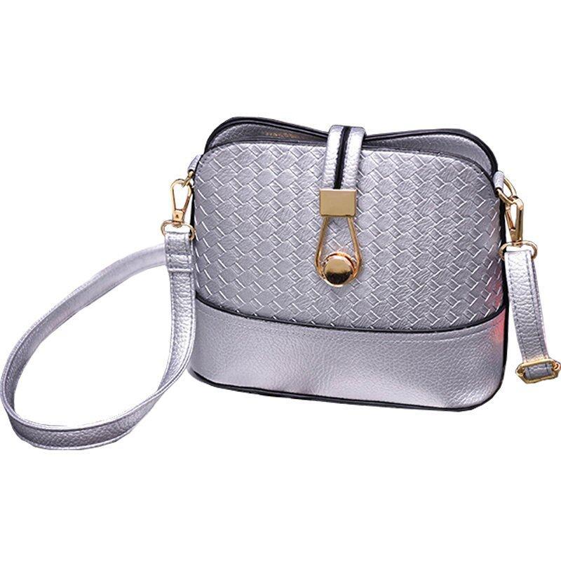 สกลนคร RockLife Women Bag กระเป๋าสะพายพาดลำตัว Cross Body Bag 0016  เงิน