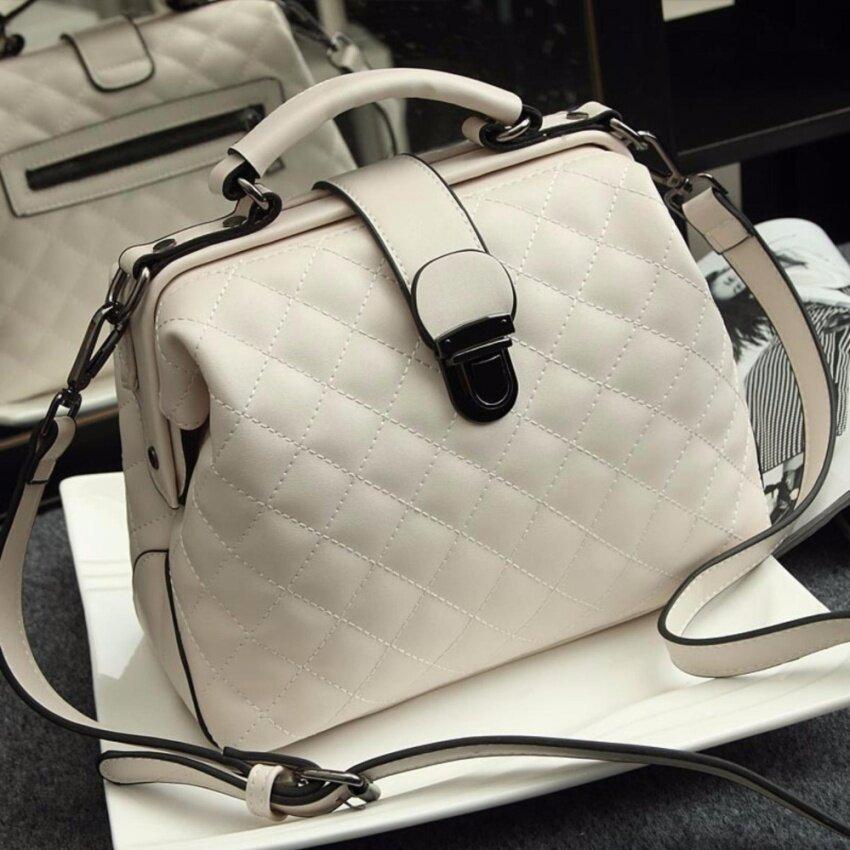 RockLife Women High Quality Leather Handbag กระเป๋าถือ กระเป๋าสะพายไหล่ กระเป๋าสะพายพาดลำตัว - R1139 White