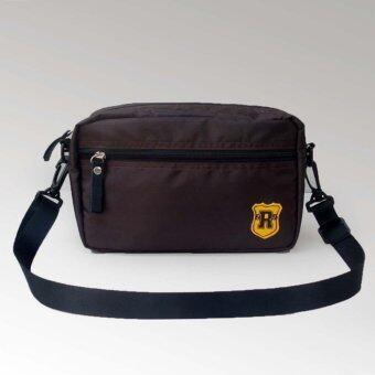 อยากขาย กระเป๋าสะพายข้าง โพลีเอสเตอร์กันนํ้า รุ่น mini bag9 inch (Brown)