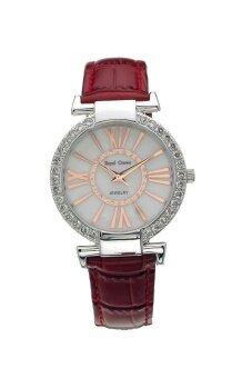 Royal Crown นาฬิกาข้อมือผู้หญิงประดับเพชร รุ่น 6116 - สีแดง
