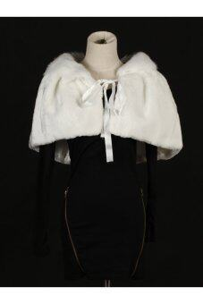 SF Faux Fur Cloak Special Occasion Shawl Style 012