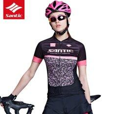 Santic Summer Women Pro Short Sleeve Cycling Jersey Breathable Quick-dry Bicycle Bike Jersey Cycling Clothing Top Shirt - intl