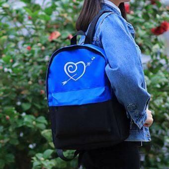 วิทยาลัยลมถุงผ้าใบญี่ปุ่นและเกาหลีใต้ schoolbags กระเป๋าสะพายไหล่ (333 สีฟ้าที่จะส่งหนังสือเล็กๆ)