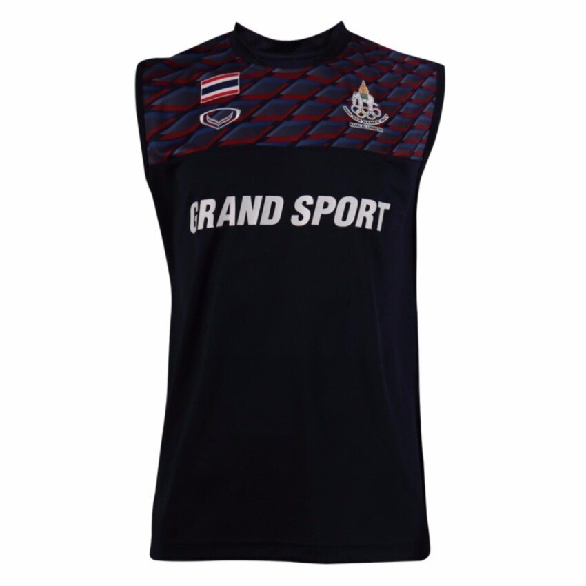 แกรนด์สปอร์ต เสื้อกีฬา ซ้อม Sea Games 2017แขนกุด(สีกรม)
