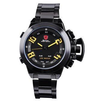 ราคา Shark นาฬิกาข้อมือผู้ชาย สายสแตนเลส รุ่น SK-SB53 - สีดำ/เหลือง