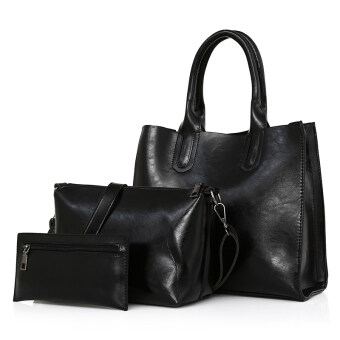 Shishang หญิงใหม่กระเป๋าถือสุภาพสตรีกระเป๋า (สีดำ)