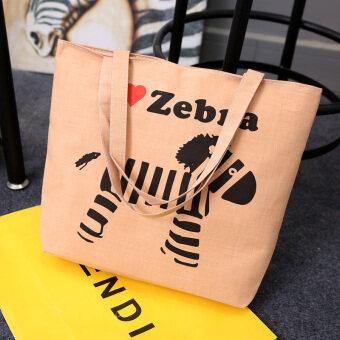 นักเรียนกระเป๋าการดำเนินงานถุงถุงผ้าใบลำลอง (Shishang ม้าลาย)