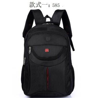 กระเป๋าสะพายชายคอมพิวเตอร์เดินทางกระเป๋านักเรียนกระเป๋าเป้สะพายหลัง (Shishang สีดำ 585 โค้งดึง)