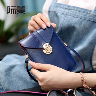 สี่เหลี่ยมเล็กๆ Shishang นางสาวมินินักเรียนกระเป๋า Messenger ใหม่กระเป๋าถือ (สีน้ำเงินเข้ม)