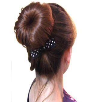 Shop Jung อุปกรณ์เกล้าผม DIY Hair Device Donut Magic Foam Spongeรุ่น 000407- Black