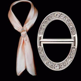 Shop Jung แหวน คล้องผ้าพันคอ Scarf Buckle Code 000369 - Rose Gold / Silver (แพ็คคู่ 2 ชิ้น)