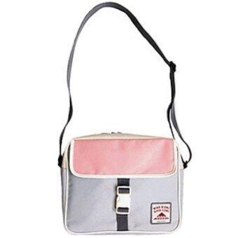 จัดโปรโมชั่น Shoppy กระเป๋าสะพาย ทรงสี่เหลี่ยม ดีไซน์เกาหลี - สีเทาอ่อน