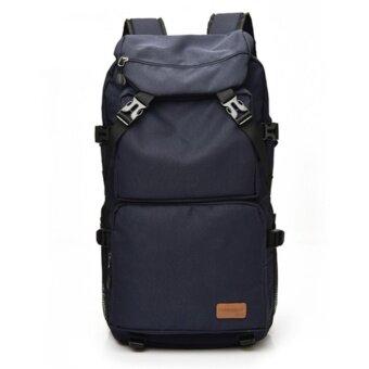 กระเป๋าเป้ กระเป๋าสะพายหลัง กระเป๋าเป้สะพายหลัง กระเป๋าเดินทาง ผ้า ไนล่อน สำหรับ เดินทาง ทำงาน สีน้ำเงิน