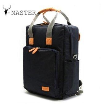 กระเป๋าเป้ กระเป๋าสะพายหลัง กระเป๋าเป้สะพายหลัง กระเป๋าเดินทาง ผ้า Polyester สำหรับ เดินทาง ทำงาน สีน้ำเงิน