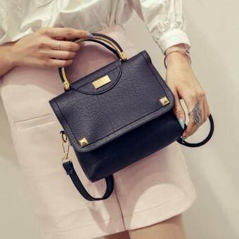 กระเป๋าสะพายข้าง กระเป๋าเป้ผ้าไนลอน SKN607 Premium PU LeatherCrossbody Bag ST-10012 (black)